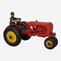 "Circa: 1939-1941 Hubley ""Allis-Chalmers"" 7"" Cast Iron Toy Farm Tractor."