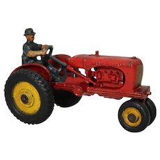 "Circa: 1939-1941 Hubley ""Allis-Chalmers"" 7"" Cast Iron Toy Farm Tractor."