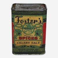 Early 1900's Foster's (Celery Salt) Spice Tin.