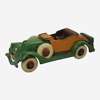 "Circa: 1933 Cast Iron Hubley Detachable Body 6 1/4"" toy Roadster"