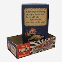 1941-1945 Powerhouse Candy Bar Advertising Box