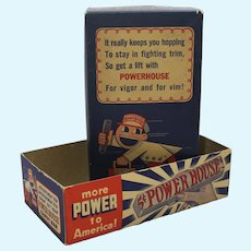 1941-1945 Powerhouse Candy Bar Advertising Box