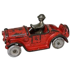 "Circa: Mid 1920's Cast Iron Kilgore 4 1/4"" Sport Roadster Toy with Original Nickled Driver"