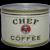 "Circa: 1930's, ""Chef"" Brand Key Wind 1 lb. Litho Coffee Can"