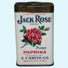 "Early 1900's ""Jack Rose"" Paprika Litho Spice Tin"