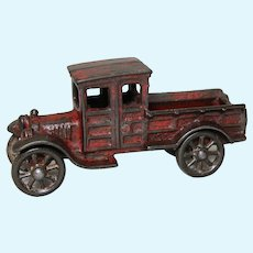 "Circa: 1920's A.C. Williams Cast Iron 5 1/2"" Toy Ford Delivery Truck"