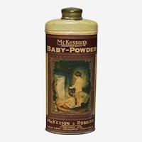 Circa: 1930's McKesson's Baby-Powder Litho Tin