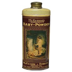 Circa: 1930's McKesson's Baby-Powder Litho Tin