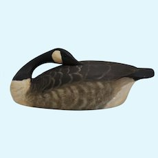 "Circa: 1975 Large 22 1/2"" Torry Ward Sleeper Canada Goose Decoy"