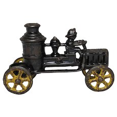 Circa: 1920'S Dent/Kenton Cast Iron Pumper Fire Truck Toy