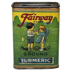 "Circa 1920-1940 ""Fairway Brand"" Spice Container"