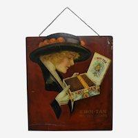 Very Rare, Circa: 1914-1924 El Roi-Tan Cigar Litho Metal Advertising Sign