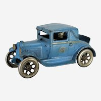 """Circa: 1928-1932 Cast Iron Large 6 1/2"""" Arcade Model-A Ford Coup with Rumble Seat"""
