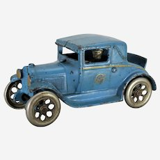 "Circa: 1928-1932 Cast Iron Large 6 1/2"" Arcade Model-A Ford Coup with Rumble Seat"