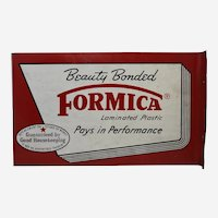 Circa: Early 1940's to Late 1950's 'Formica' Two Sided Metal Flanged Advertising Sign