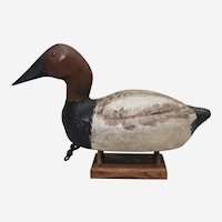 Circa: 1930's, 40's C.V. Wells Redhead Drake Wisconsin Duck Decoy