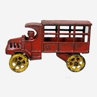 """Circa: Mid to Late 1920's, Hubley 4 3/4"""" Cast Iron Delivery Truck"""