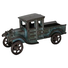 "Circa: 1920's A.C.Williams 4 3/4"" Cast Iron Ford Pickup Truck"