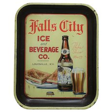 Circa 1919-1933 Falls City Ice and Beverage Co. Litho Advertising Serving Tray