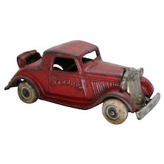 """Circa: 1930's, 4 3/4"""" Cast Iron Toy Arcade """"Plymouth"""" Coup with Rumble Seat"""