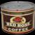 "Rare 1940's, 50's Small 1/2 lb. Estabrooks ""Red Rose"" Key Wind Litho Coffee Tin"