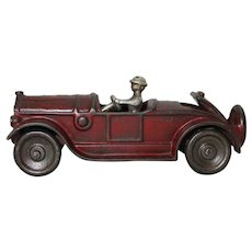 "Circa: 1920's Kilgore 6"" Sport Roadster with Rumble Seat and Original Driver"