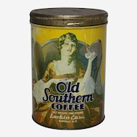 Circa: 1930's, Old Southern Coffee 1 lb. Litho Advertising  Tin