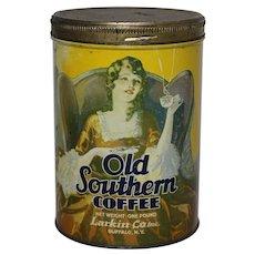 Circa: 1930's, Old Southern Coffee 1 lb. Litho Advertising  Tin