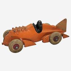 "Circa: 1930's Hubley 6 3/4"" Cast Iron ""Golden Arrow"" Racer Toy"
