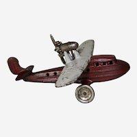 "Circa: 1930-1932 Kilgore ""Sea Gull"" Amphibian Cast Iron 8""Toy Airplane"