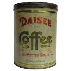 Daisee Brand Litho Coffee Tin