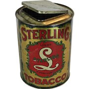 Sterling Tobacco Store Counter Tin