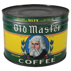 Vintage Old Master Coffee Tin