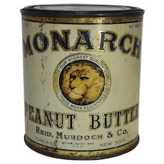 1920'S Monarch Peanut Butter Litho Tin