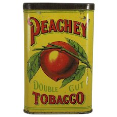 "Vintage ""Peachey"" Tobacco Pocket Tin."