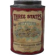 Rare Three States Mixture Tobacco Tin