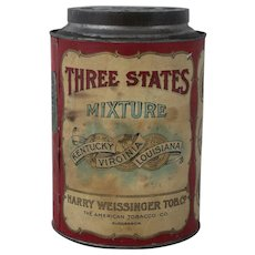 Rare Three States Mixture Tobacco Tin