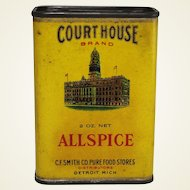 "Vintage ""Court House"" Allspice Container"