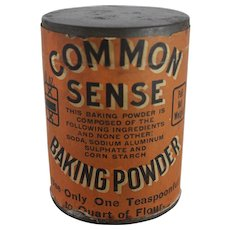 "Vintage ""Common Sense"" Baking Powder Can"