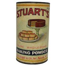 Vintage Stuart's Baking Powder Container