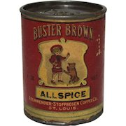"Vintage Buster Brown ""Allspice"" Spice Container"