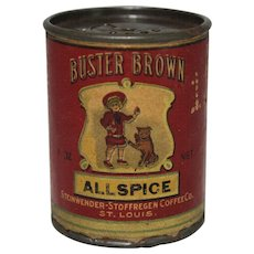 """Vintage Buster Brown """"Allspice"""" Spice Container"""