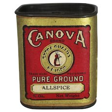 "Vintage Canova Extra Quality ""Allspice"" Spice Container"