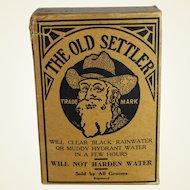 "Vintage Unopened Box of ""Old Settler"" Water Clarifier"