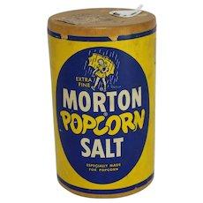 Vintage Morton Popcorn Salt Cardboard Container