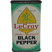 """Vintage """"LeCroy"""" Tin Spice Container"""