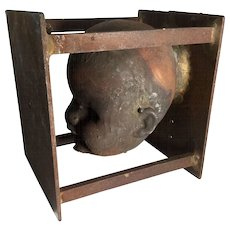 Vintage Copper Doll Head Mold