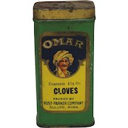 """Vintage """"Omar"""" Cloves Spice Container"""