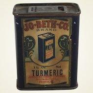 "Vintage ""Jo-Beth-Co"" Brand Spice Tin"