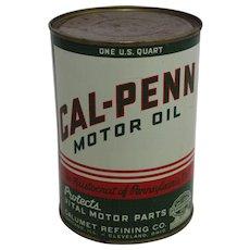 Rare Unopened One Quart Can of Cal-Penn Motor Oil